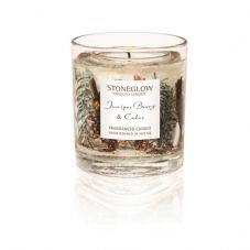 Stoneglow Candles JUNIPER BERRY & CEDAR Botanical Gel Tumbler with scented wax candle